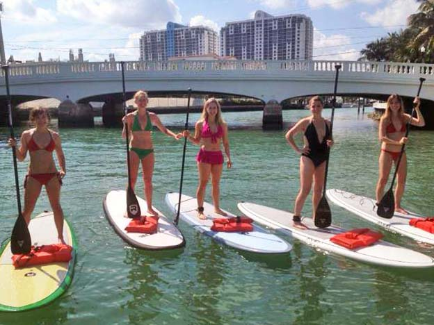 Miami South Beach SUP Tours Standup Paddle Board