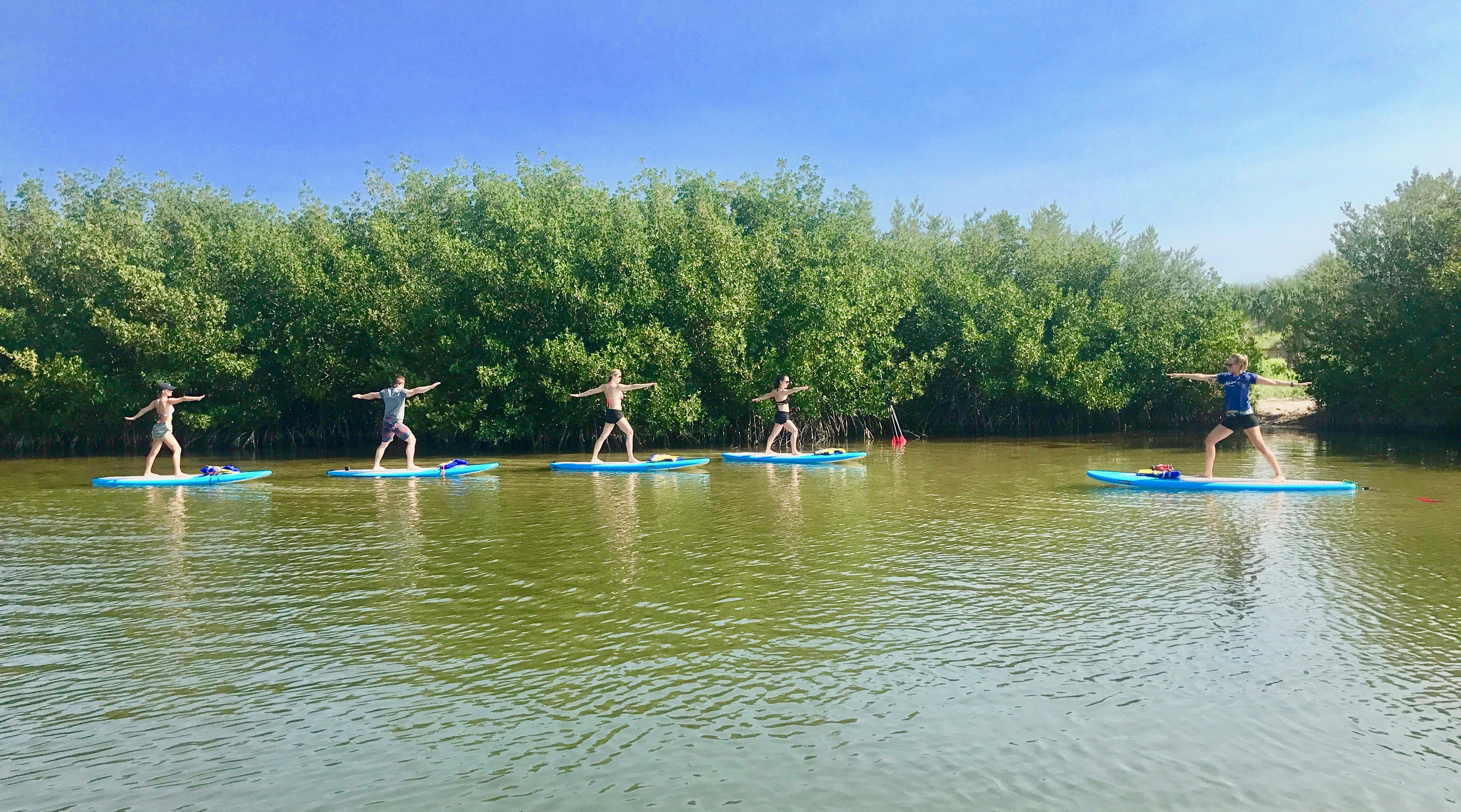 SUP yoga classes near Cocoa Beach, FL