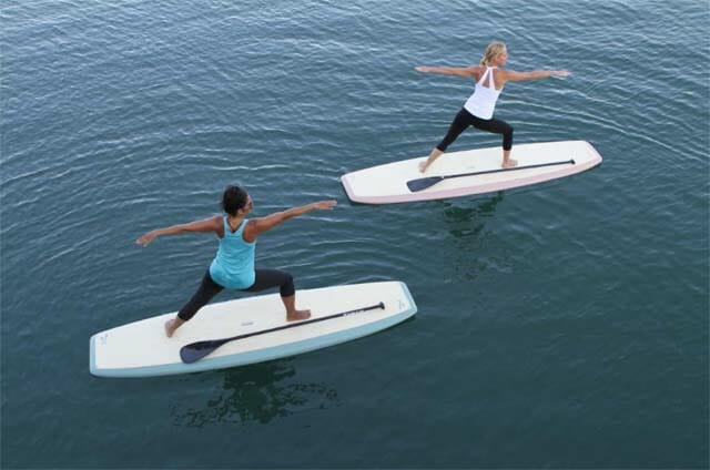 SUP yoga instructor in Cocoa Beach, FL
