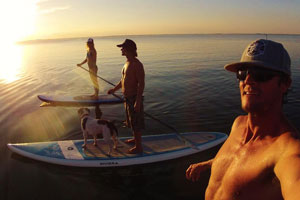 Starboard SUP sunset stand up paddle tour near Cocoa Beach