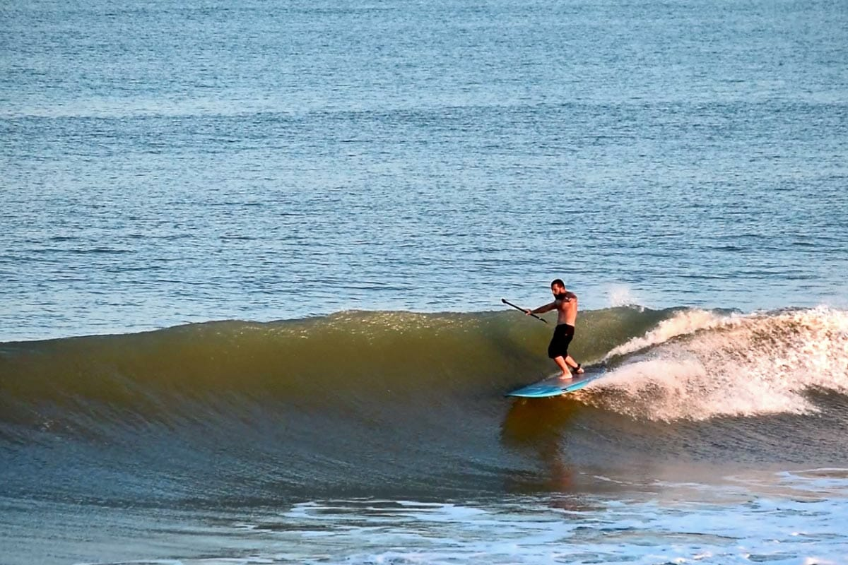 SUP Surfing at Cocoa Beach Pier