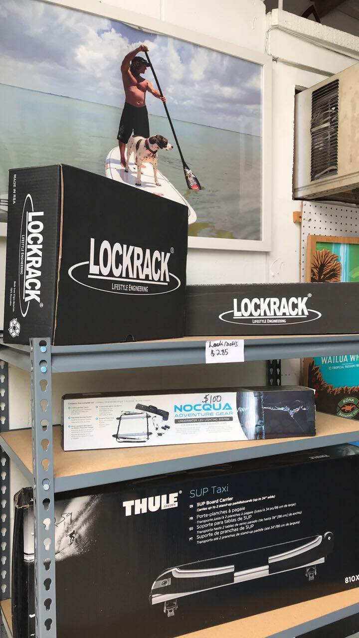 Lockracks and Thule racks at SoBe Surf & Paddle