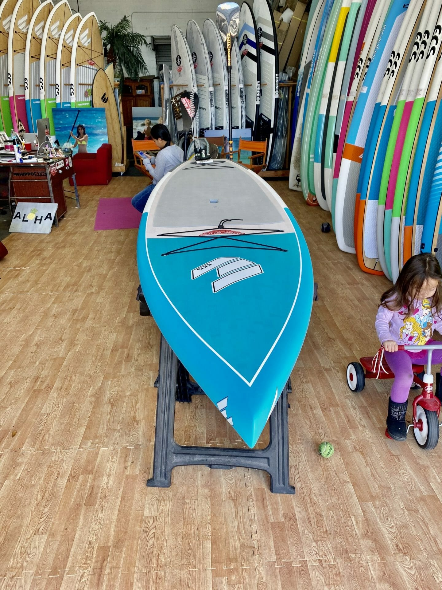 SoBe Surf Paddle Board Shop Florida Cocoa Beach Merritt Island Miami Owner Girard Middleton's daughter Audrey