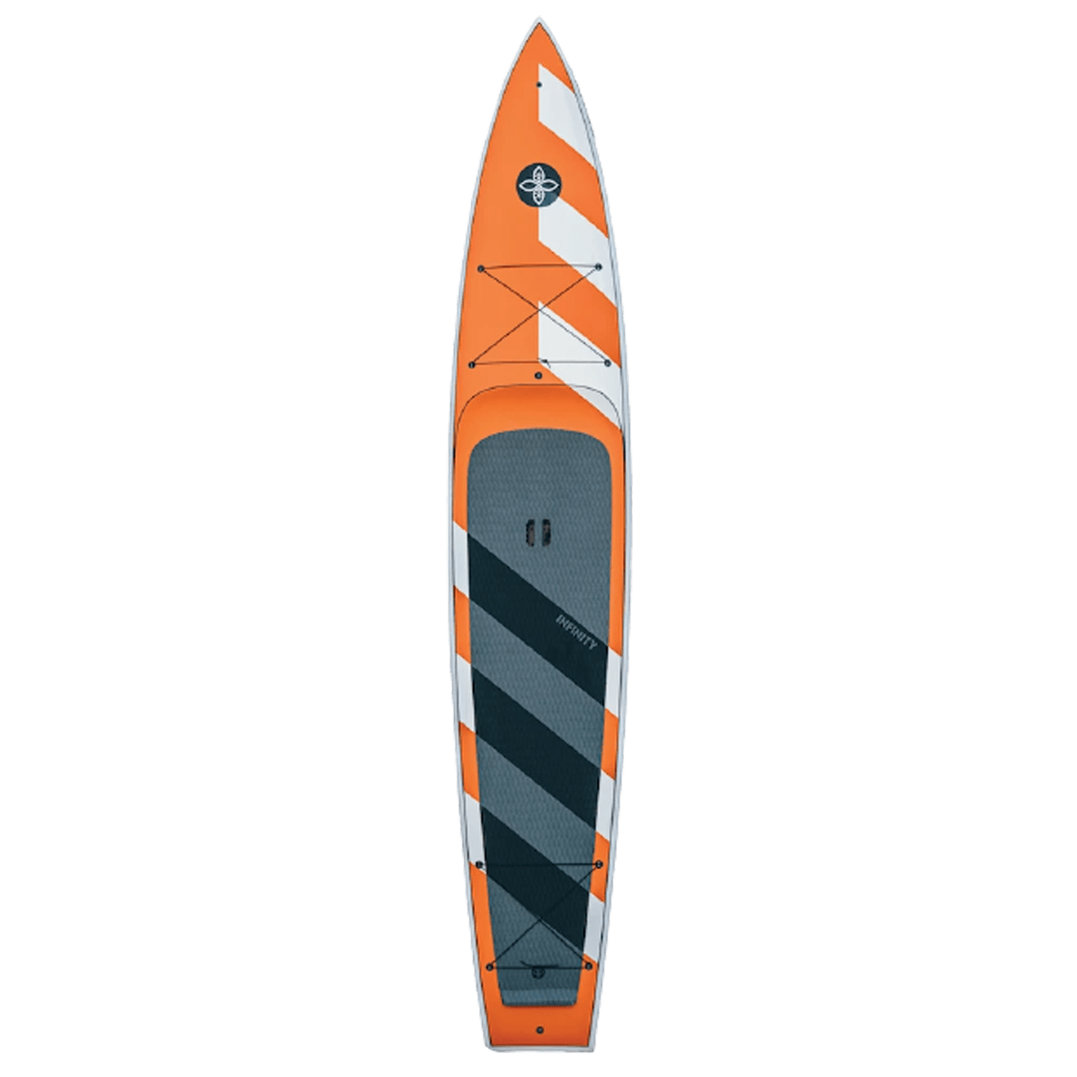 infinity SUP E-ticket Paddle Board Orange top deck